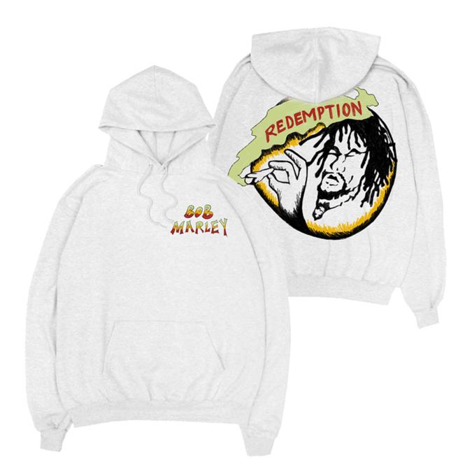 Bob Marley: Rasta Records White Hoodie S