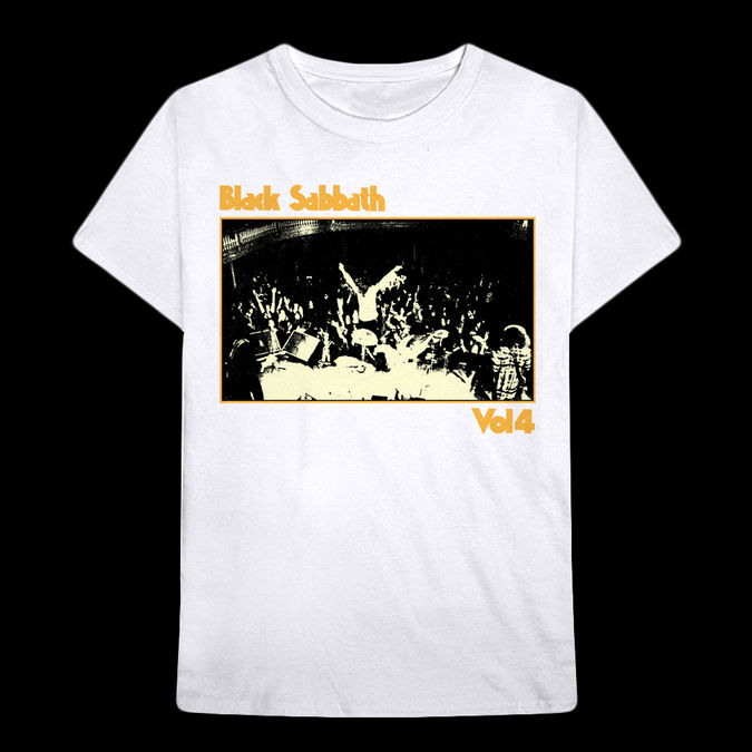 Black Sabbath: Vol 4 Live Photo White T-shirt - M