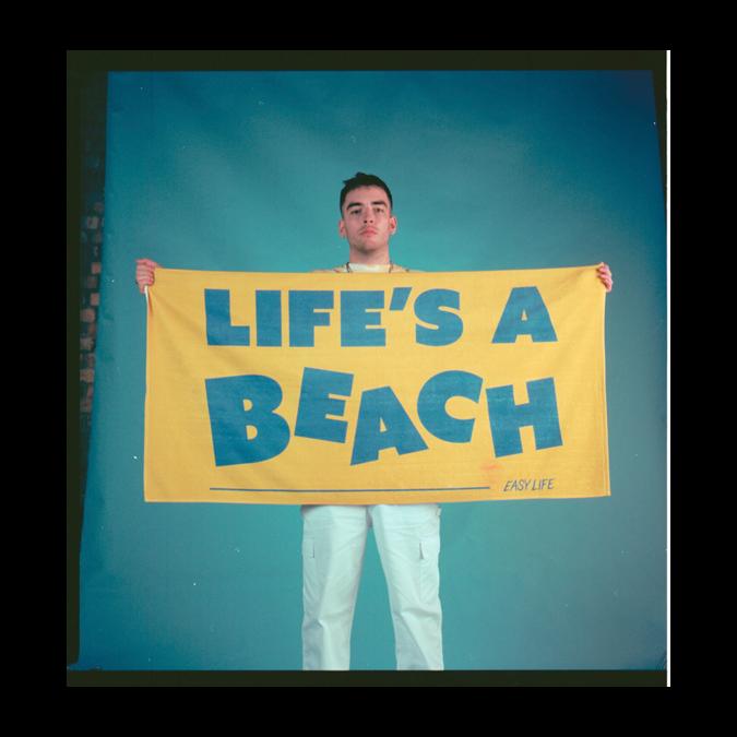 Easy Life: Life's a beach: custom beach towel