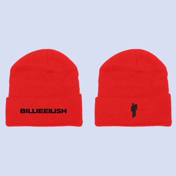 Billie Eilish: Billie Blohsh Red Beanie