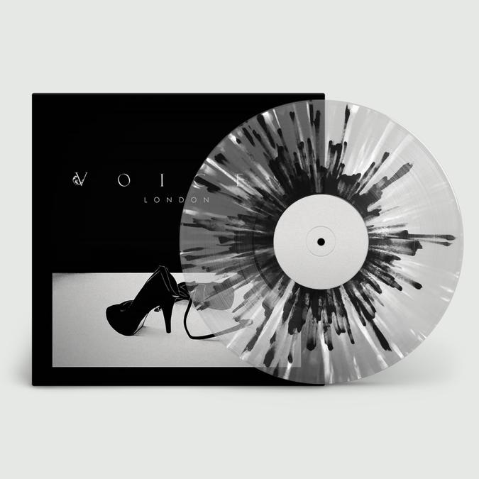 Voices: London: Limited Edition Transparent Grey, Black + White Splatter Vinyl