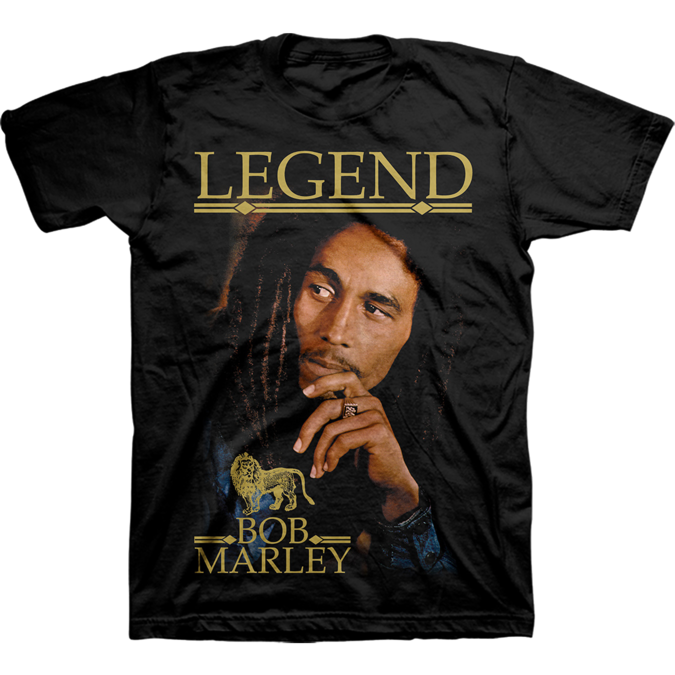 Bob Marley: LEGEND ALBUM COVER T-SHIRT