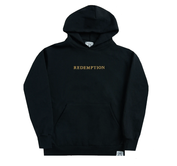 Bob Marley: Washed Black Redemption Hoodie S