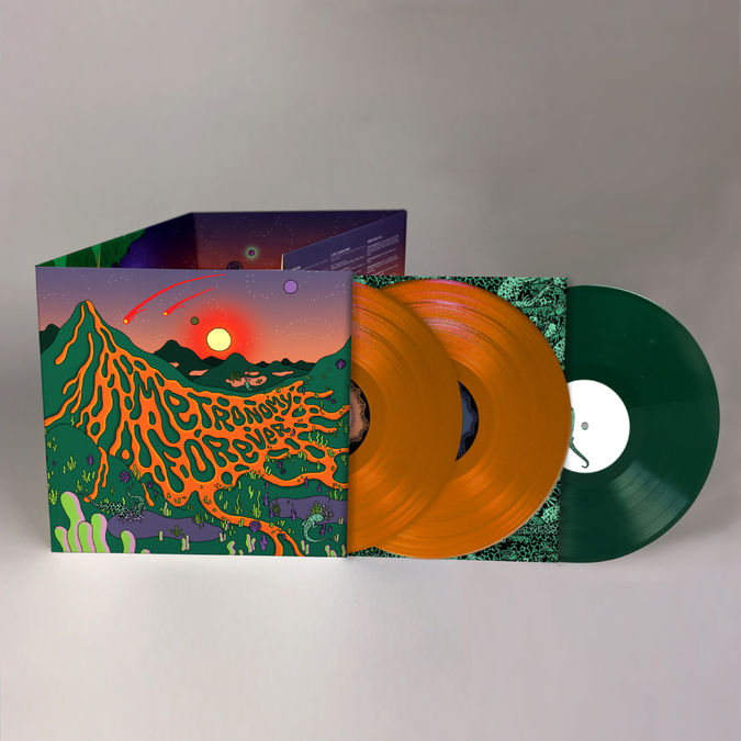 Metronomy: Metronomy Forever: Limited Deluxe Edition Transparent Green and Orange Vinyl with Signed Print