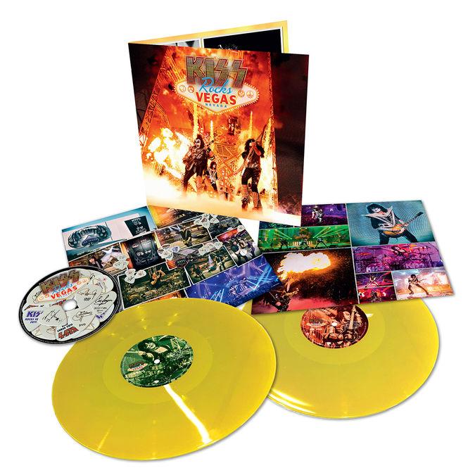 Kiss: Rocks Vegas: Limited Edition Double Yellow Gatefold Vinyl