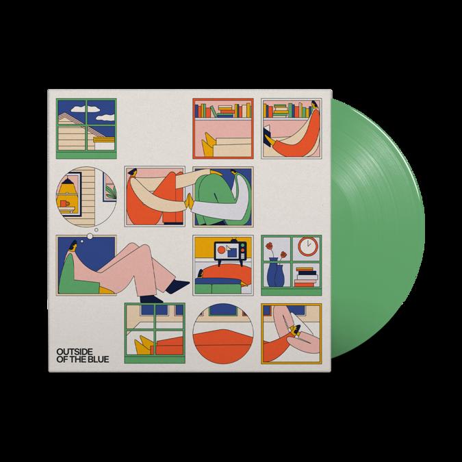 SPINN: Outside Of The Blue: Signed Green Vinyl LP