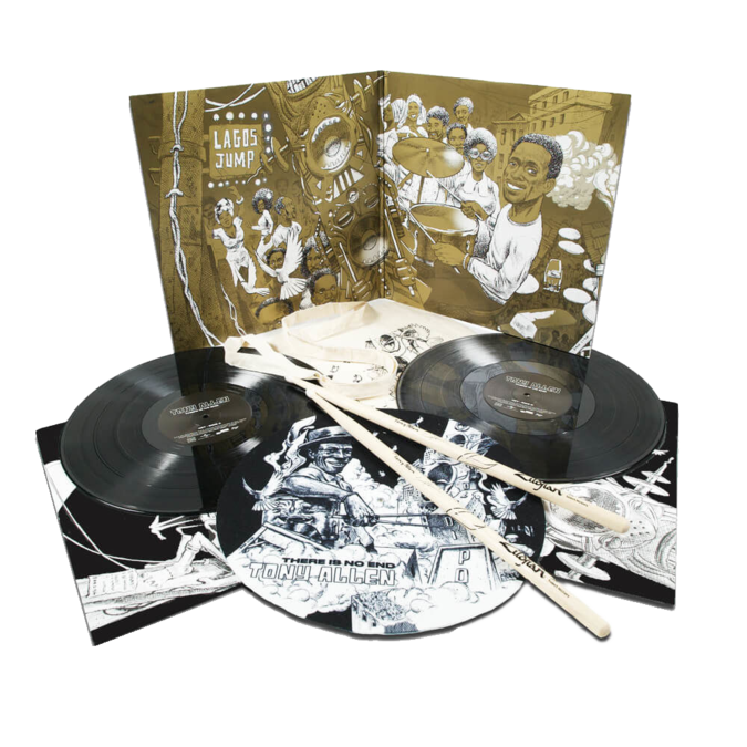 Tony Allen: There Is No End: Exclusive 2LP Vinyl Set + Tote, Slipmat, Drum Sticks