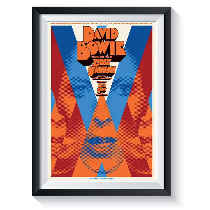 David Bowie: A Clockwork Bowie: Classic Album Sundays Screen Print