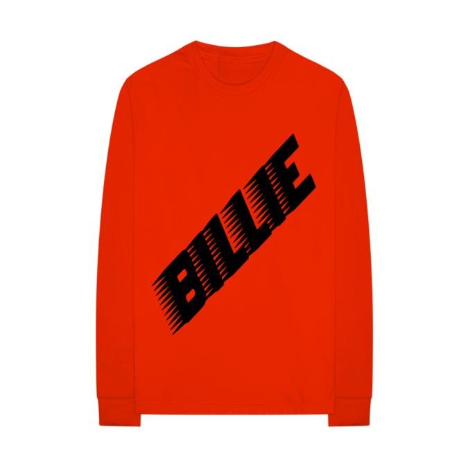 Billie Eilish: Racer Logo Red Longsleeve