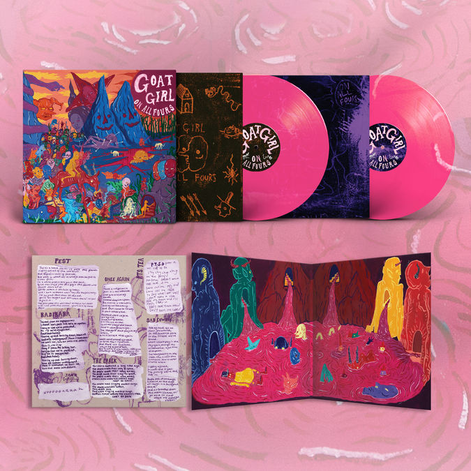 Goat Girl: On All Fours: Limited Edition Transparent Pink Vinyl + Signed Sleeve