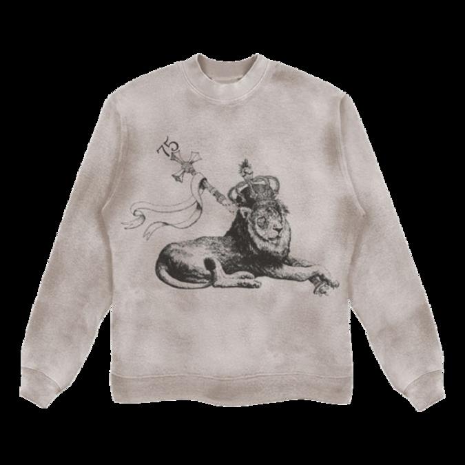 Bob Marley: Washed Printed Crew Lion Sweatshirt S
