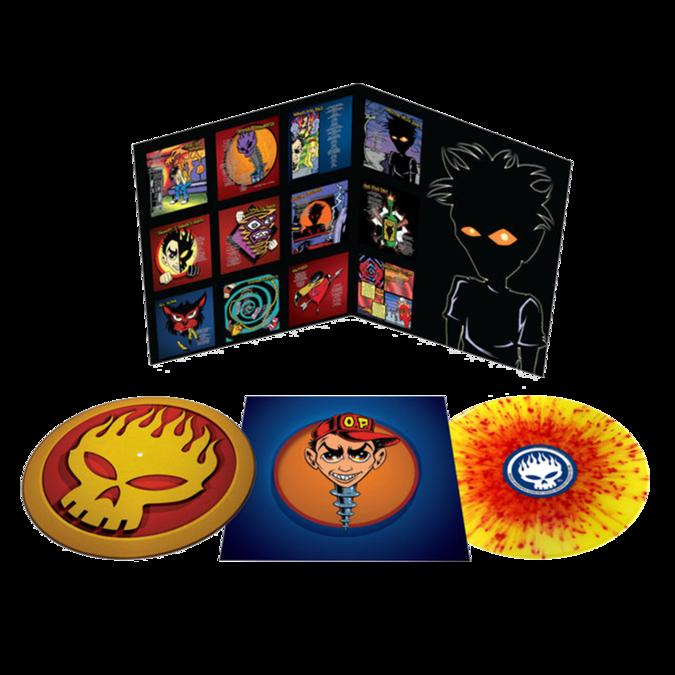 The Offspring : Conspiracy Of One: Deluxe Edition Yellow & Red Splatter Vinyl + Custom Offspring Logo Slipmat
