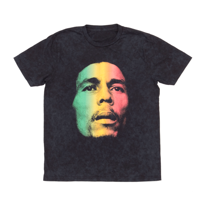 Bob Marley: Washed Gradient Face T-Shirt