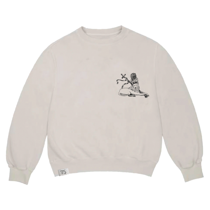 Bob Marley: Embroidered 75 Crew Sweatshirt L