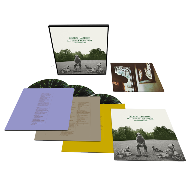 George Harrison: All Things Must Pass: Exclusive Green + Black Splatter Vinyl 3LP