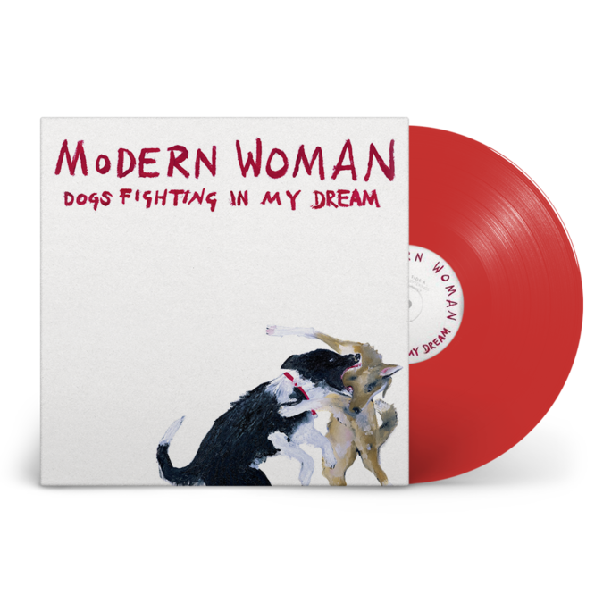 """Modern Woman : Dogs Fighting in My Dream: Signed Exclusive """"Autumn Gold"""" Red Vinyl"""