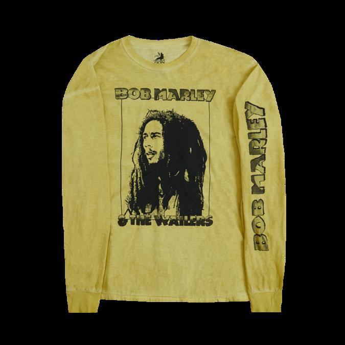 Bob Marley: Profile Frame Kaya Yellow Long Sleeve Shirt S