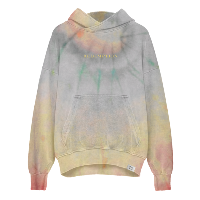 Bob Marley: Washed Tie Dye Redemption Pullover Hoodie S
