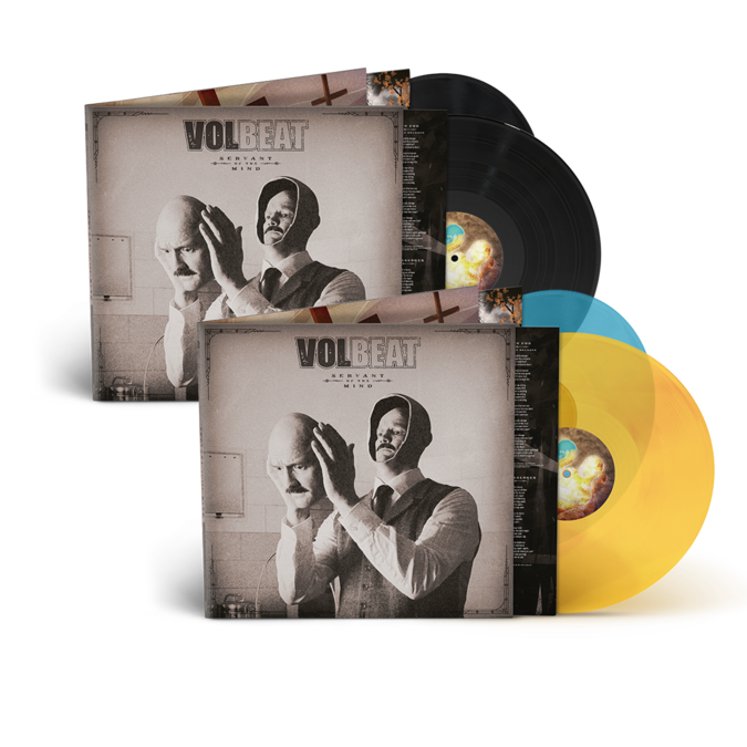 Volbeat: Servants Of The Mind: 2LP, Limited Coloured 2LP + Signed Art Card
