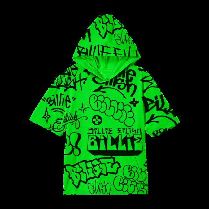 Billie Eilish: Green Graffiti Hoodie