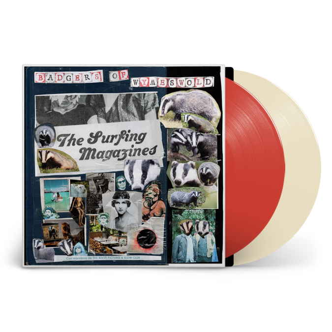 The Surfing Magazines: Badgers of Wymeswold: Signed Cream + Red Vinyl 2LP