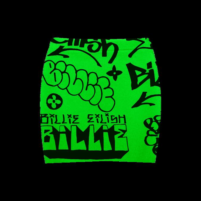 Billie Eilish: Green Graffiti Skirt