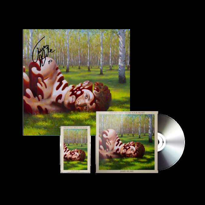 James Blake: CD + CASSETTE + SIGNED LITHO