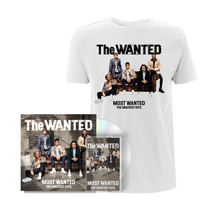 The Wanted: THE MOST WANTED - SIGNED DELUXE CD + CASSETTE + COVER TEE (WHITE)