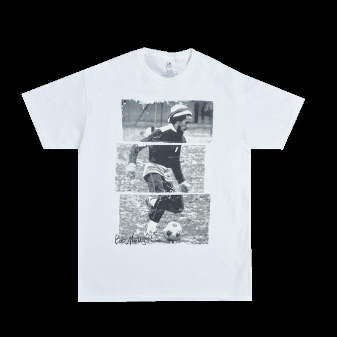 Bob Marley: Soccer 77 White T-Shirt S