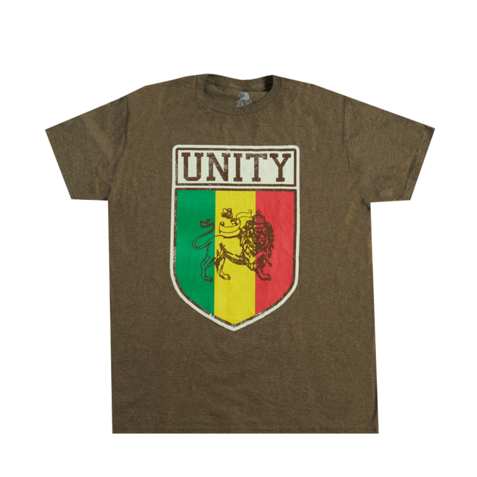 Bob Marley: Unity Heather Brown T-Shirt S