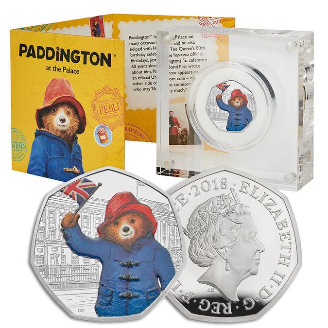 Paddington Bear: 60th Anniversary Paddington Bear at Buckingham Palace 2018 UK 50p Silver Proof Coin