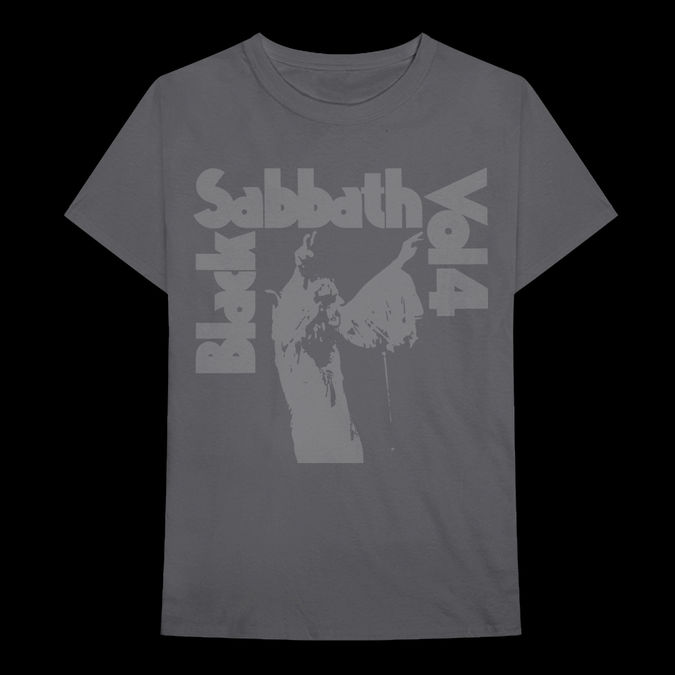 Black Sabbath: Vol 4 Cover Art Grey T-shirt - S