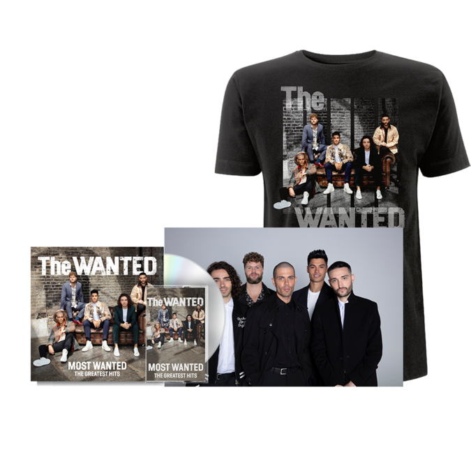 The Wanted: MOST WANTED: ALL INCLUSIVE BUNDLE, INCLUDING COVER TEE (BLACK) + FANIFIED POSTER