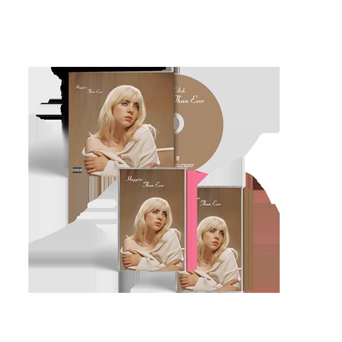 Billie Eilish: 'Happier Than Ever' CD Photobook + Exclusive Pink Cassette + Exclusive Brown Cassette