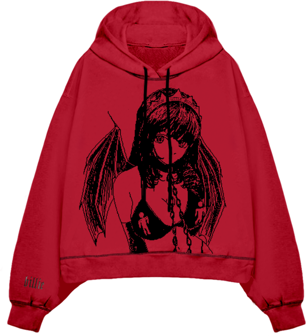 Billie Eilish: PRINCESS BLURRY HOODED SWEATSHIRT