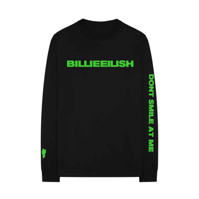 Billie Eilish: smile black longsleeve