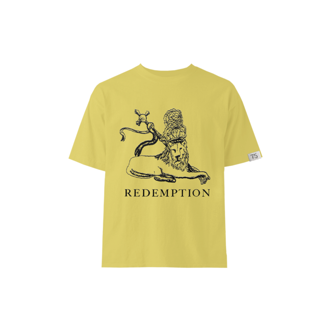Bob Marley: Yellow Redemption Lion Kids T-shirt S