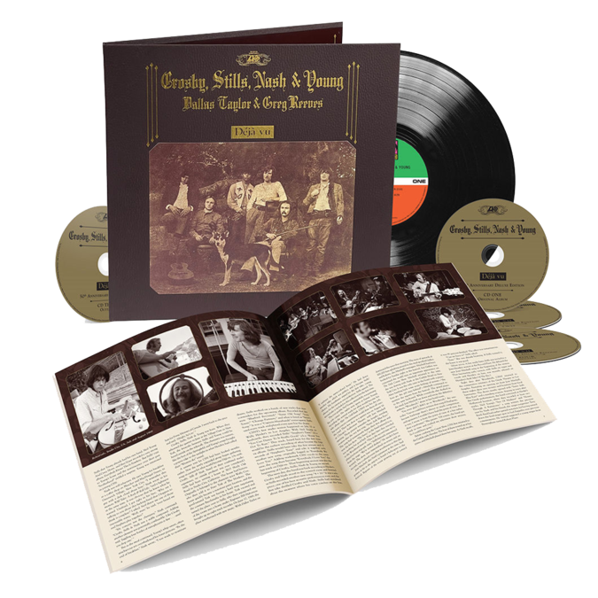 Crosby, Stills, Nash & Young: Déjà Vu - 50th Anniversary Deluxe Edition: Book-Style Hard-Cover, Textured Surface w/ Gold Foil Stamp