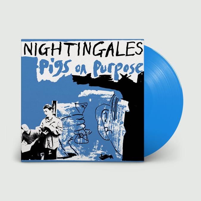 The Nightingales: Pigs on Purpose: Double Blue Gatefold Vinyl