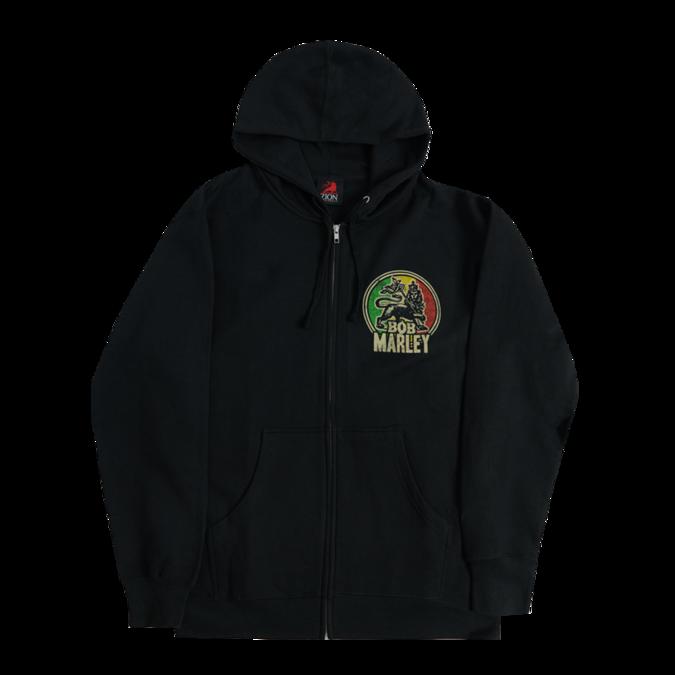 Bob Marley: Lion Black Zip Hoodie