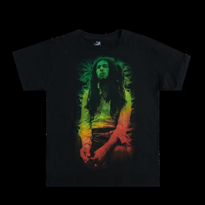 Bob Marley: Rasta Leave Black T-Shirt S