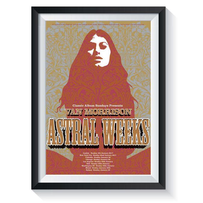 Van Morrison: Astral Weeks: Classic Album Sundays Screen Print