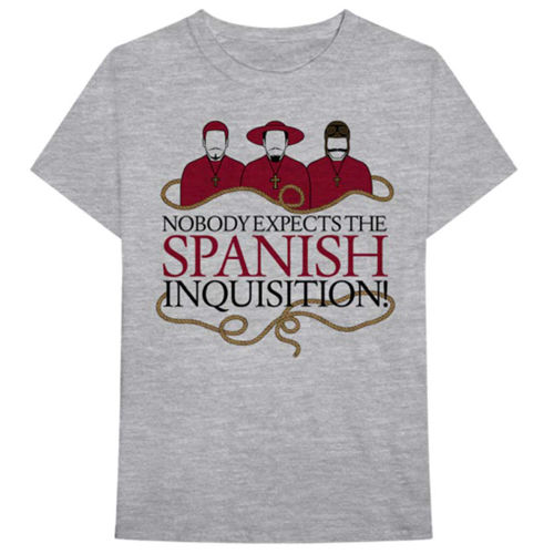 Monty Python: Spanish Inquisition Grey Tee - L