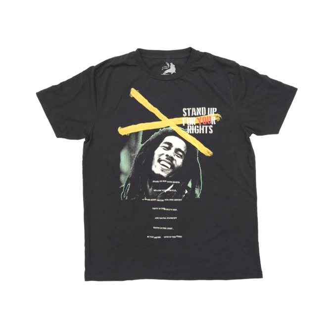 Bob Marley: Stand Up Crossed T-Shirt