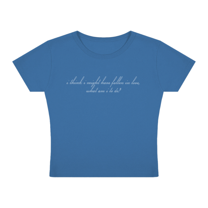 """Billie Eilish: """"I think I might have fallen in love"""" Baby Tee"""