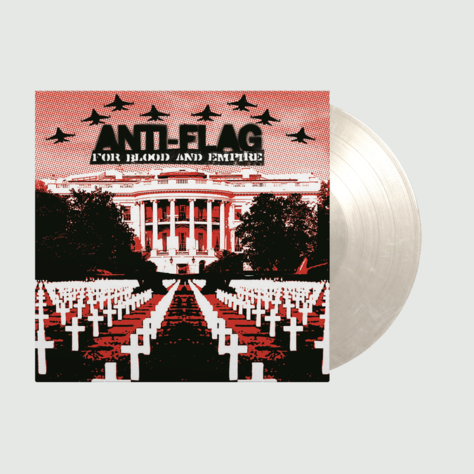 Anti-Flag: For Blood and Empire: Limited Edition White Marbled Vinyl