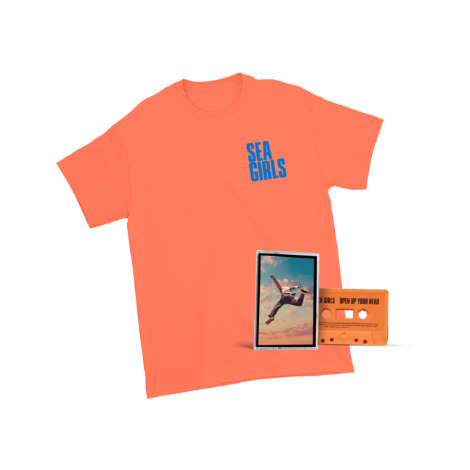 Sea Girls: Open Up Your Head Orange Tee + Cassette