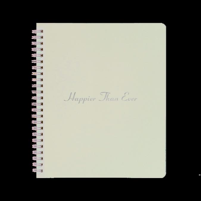 Billie Eilish: Happier Than Ever Notebook