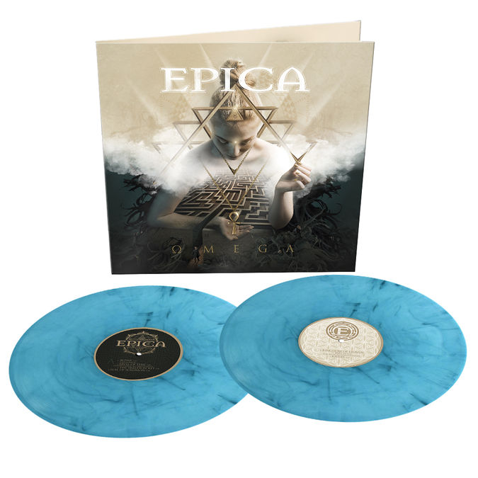 Epica: Omega: Limited Edition Turquoise + Black Marbled Vinyl LP