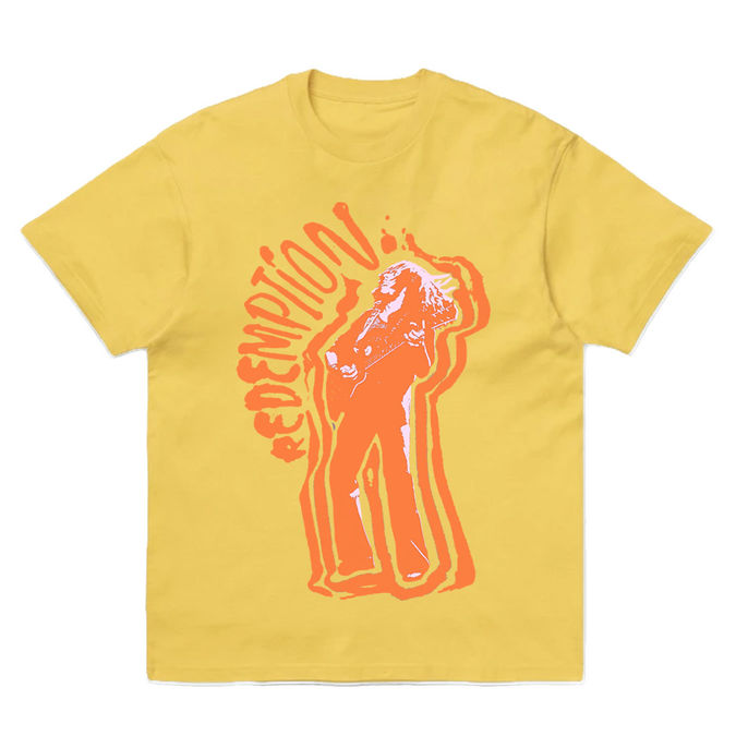 Bob Marley: Redemption Yellow Washed T-Shirt S